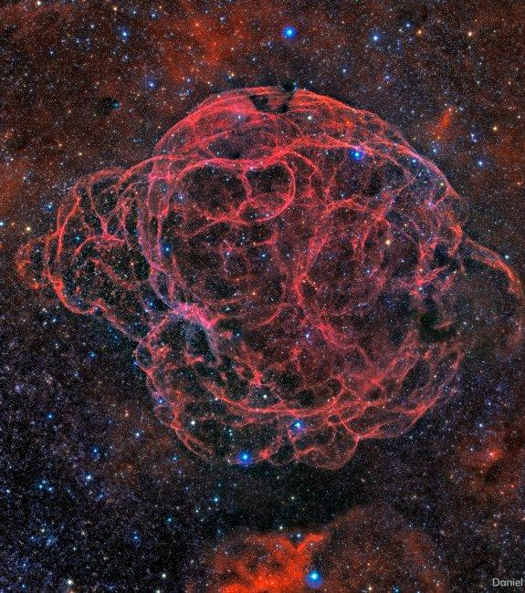 The Spaghetti Nebula, a new image by the IAC's remote astrograph