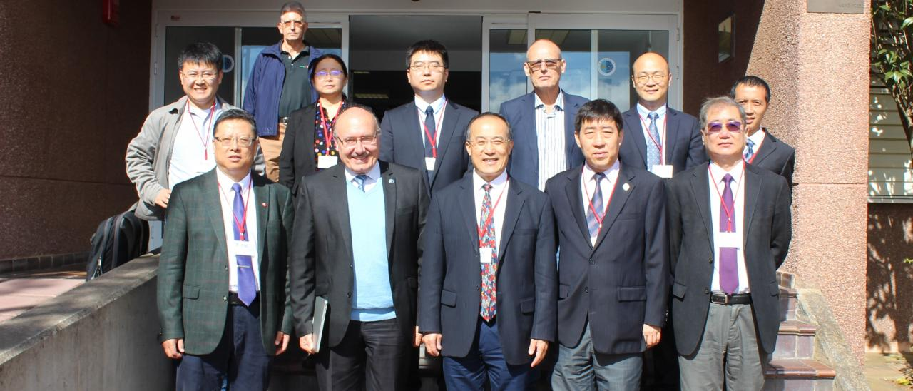 Representatives of the CAS and the NAOC at the Headquarters of the IAC in La Laguna.