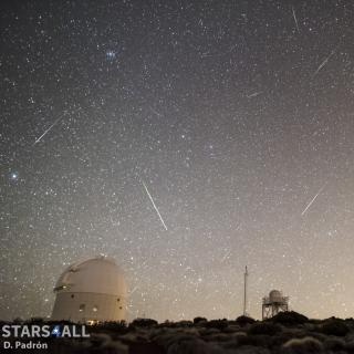 Meteoros registered at the Teide Observatory the 4th January 2107