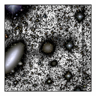 This image presents the region around the galaxy NGC 1052-DF4, taken by the IAC80 telescope at the Teide Observatory in Tenerife. The figure highlights the main galaxies in the field-of-view, including NGC 1052-DF4 (center of the image), and its neighbor NGC 1035 (center left).