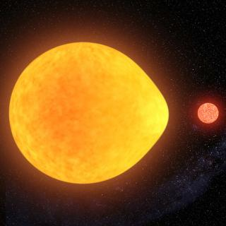 Pulsating star in binary system