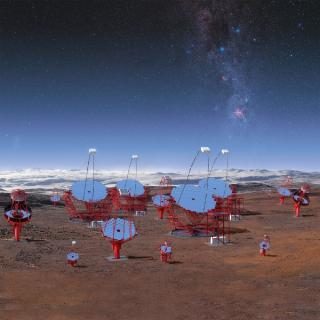 Cherenkov Telescope Array 3D simulation